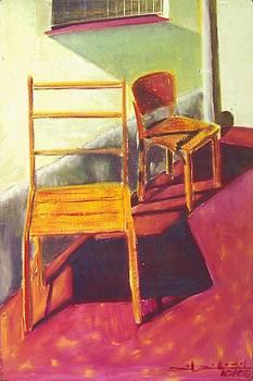 Yellow Chairs by Daniel Ribeiro