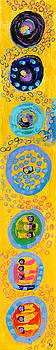 Yellow Chakra Abstract by Maggis Art