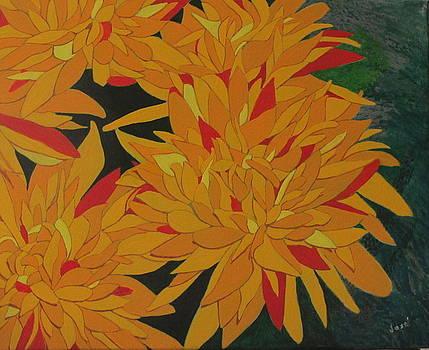 Yellow Chrysanthemums by Hilda and Jose Garrancho