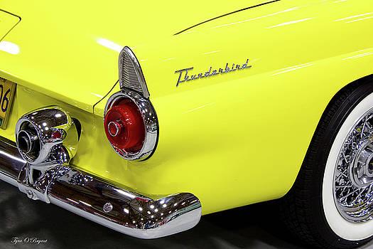 Yellow Classic Thunderbird Car by Tyra OBryant