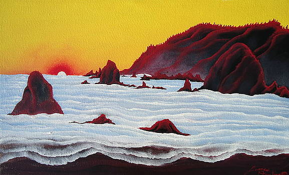 Yellow Coast Of Oregon by Portland Art Creations