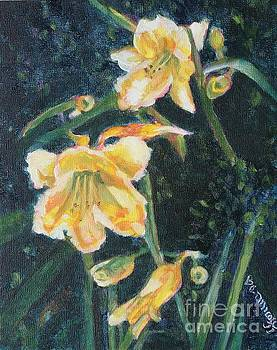 Yellow Day Lilies by Jan Bennicoff