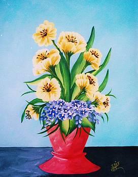 Yellow Delight by Iris  Mora