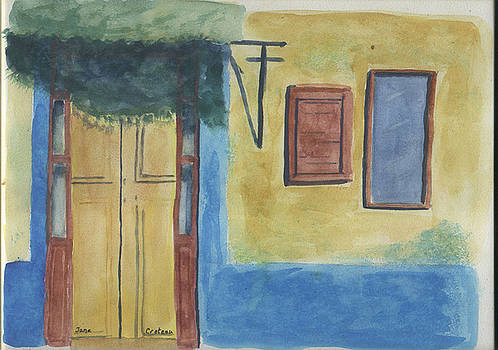 Yellow Door by Jane Croteau