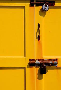 Yellow Door Lock by Darren Kearney
