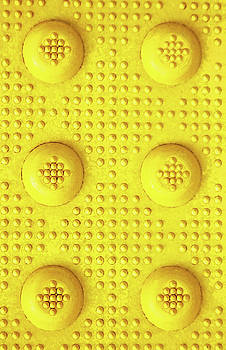 Yellow Dot Industrial Portrait by Tony Grider