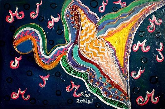Rizwana Mundewadi - Yellow Dragon Bird of Happiness