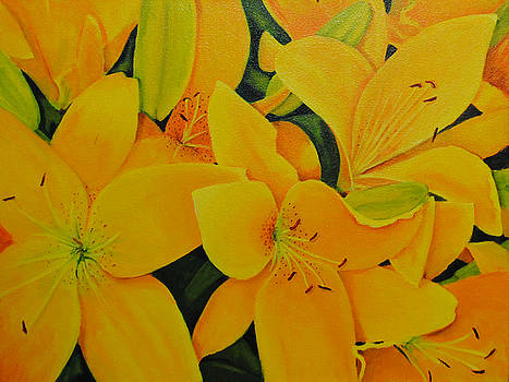 Yellow Flora by Linda Hiller