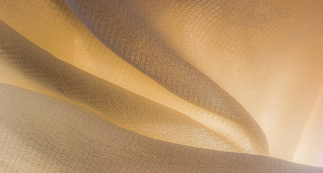 Yellow Flow of Fabric by Yogendra Joshi