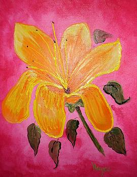 Yellow Flower by Barbara Hayes