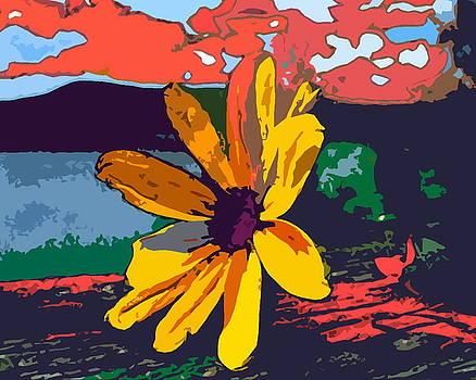 Yellow Flower by Mehdi Mehrvarz