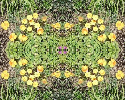 Yellow Flower Photo 1492 composite by Julia Woodman