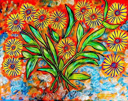 Gina Nicolae Johnson - Yellow flowers