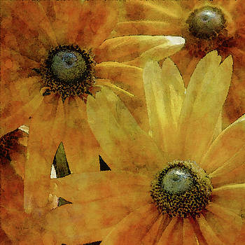 Yellow Flowers Impression 2937 IDP_3 by Steven Ward