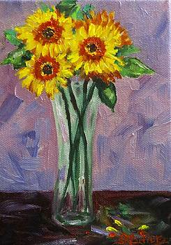Yellow Gerbera Daises by Sandra Cutrer