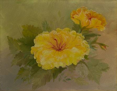 Yellow Hibiscus by Jacqueline Whitcomb