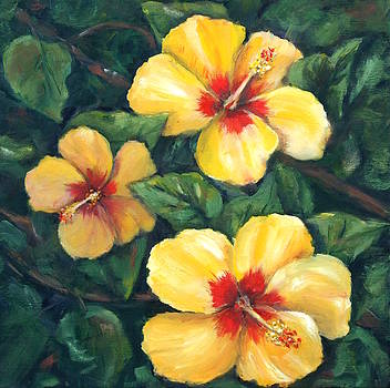 Yellow Hibiscus by Julie Ferrario