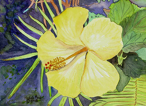 YELLOW HIBISCUS No. 2 by Michele Ross