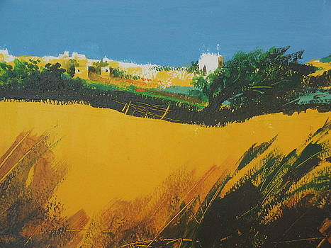 Yellow Hills by Diane Agius