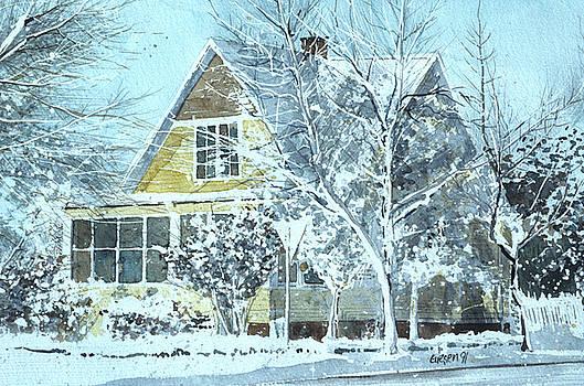 Yellow Hoarfrost House by Martin Giesen