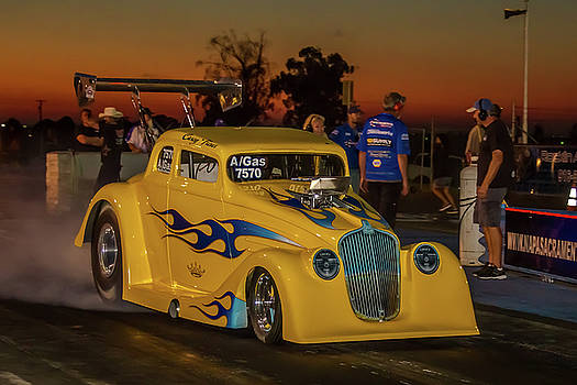 Yellow Hot Rod by Bill Gallagher