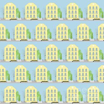 Yellow houses by Gaspar Avila