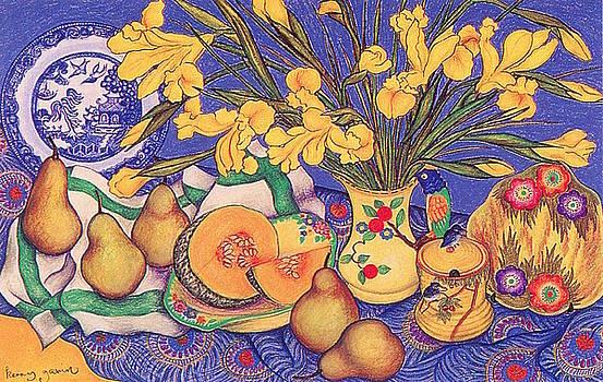 Richard Lee - Yellow Irises in the Bird Jug