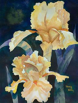 Yellow Irises by Jerry Kelley