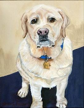 Winston the Yellow Labrador Retriever by Karen Dortschy