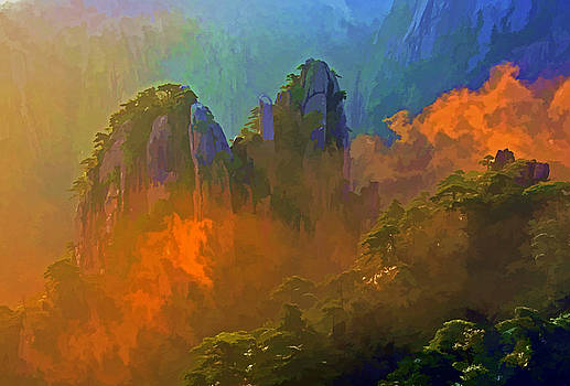 Dennis Cox WorldViews - Yellow Mountain Sunrise