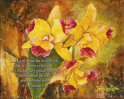 Yellow Orchids Acrylic 2 Cor 5 by Janis Lee Colon