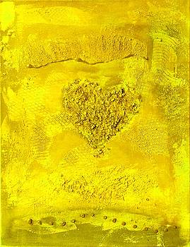Yellow Paper Heart - variation by Alexandra Schumann