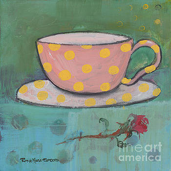 Yellow Polka Dotted Pink Cup by Robin Maria Pedrero