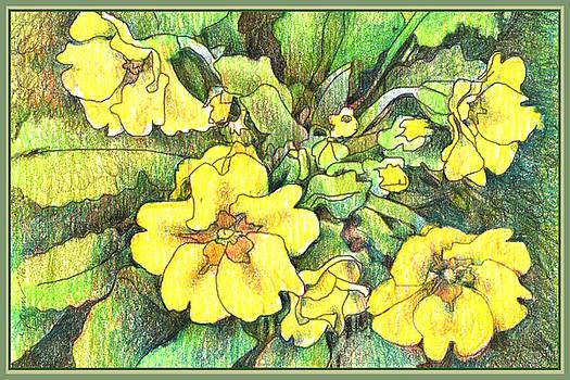 Yellow primrose by Rose Gauss