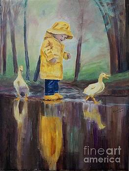 Yellow Rain by Frankie Picasso