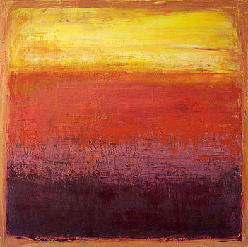 Allen Forrest - Yellow Red Purples on Orange
