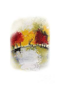 Yellow Red Trees by Mantra Y