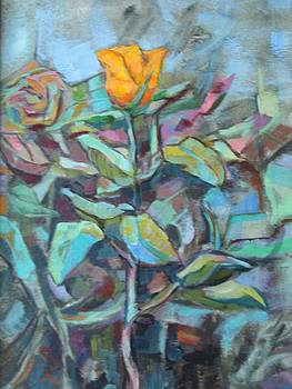 Yellow Rose by Alfons Niex