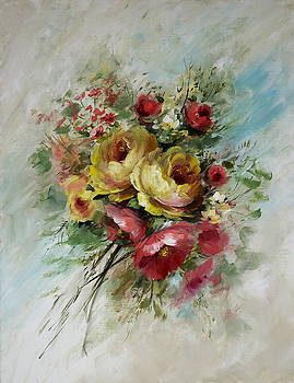 David Jansen - Yellow Rose Bouquet