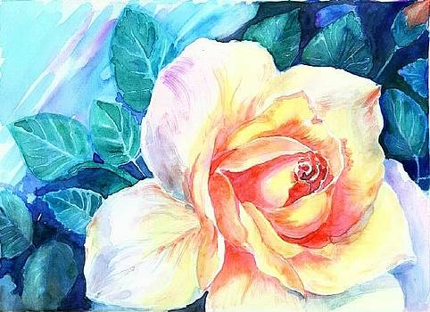Yellow rose by Mousumi Mani