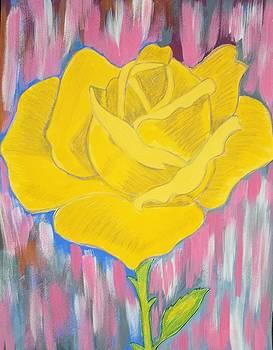 Yellow Rose by Soheila Madani