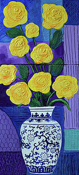 Yellow Roses in Vase by Stephen Humphries
