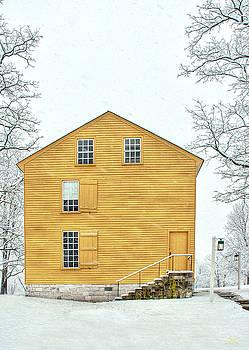 Sam Davis Johnson - Yellow Shaker House in Winter