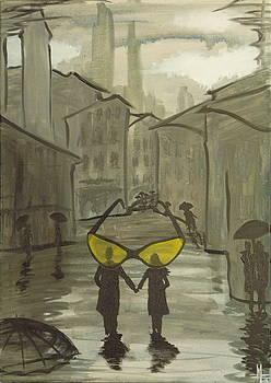 Yellow Sunglasses by Zsuzsa Sedah Mathe