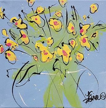 Yellow Sweetpeas by Terri Einer