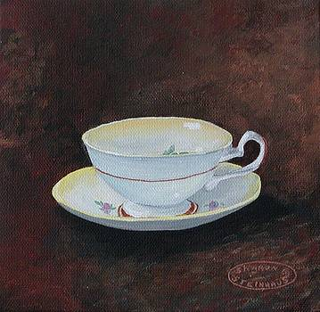 Yellow Teacup by Sharon Steinhaus