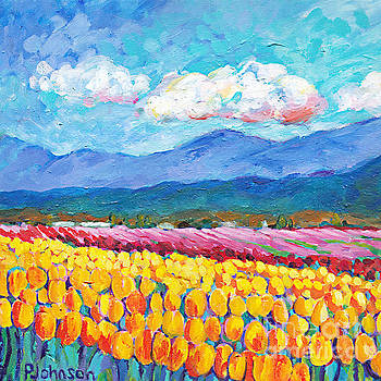 Peggy Johnson - Yellow Tulip Field