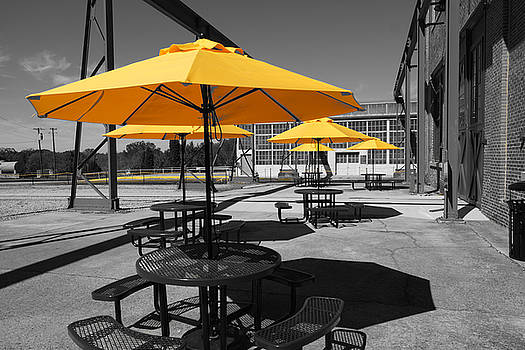 Yellow Umbrellas by Rodney Lee Williams