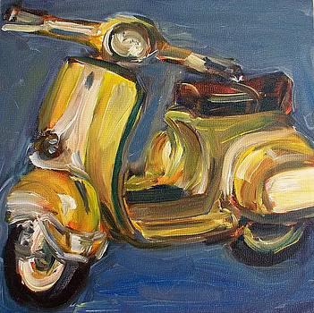Yellow Vespa by Sheila Tajima