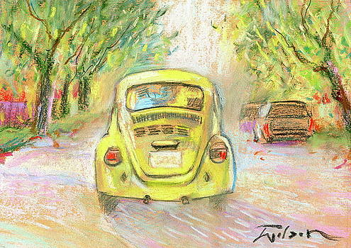 Yellow VW by Ron Wilson